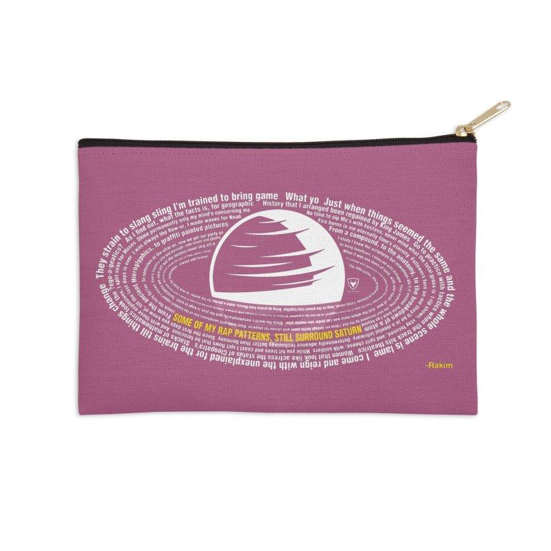 Rap Patterns Around Saturn Accessories Zip Pouch by Buckeen