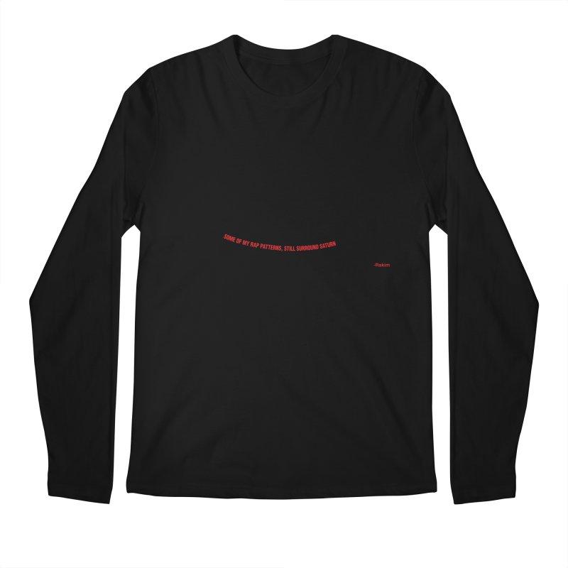 Rakim-Rap Patterns Around Saturn Men's Regular Longsleeve T-Shirt by Buckeen