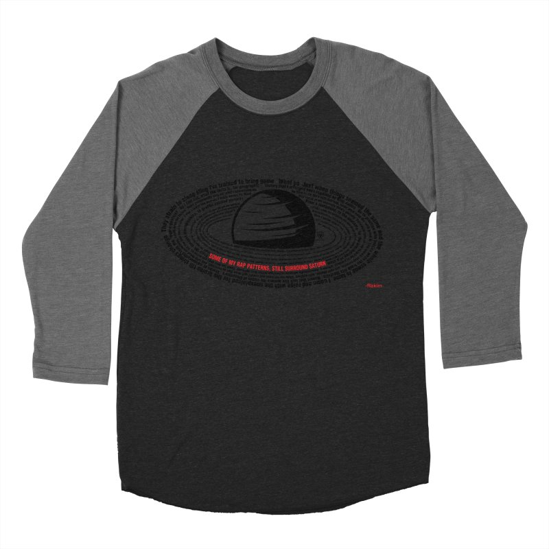 Rakim-Rap Patterns Around Saturn Women's Baseball Triblend T-Shirt by Buckeen