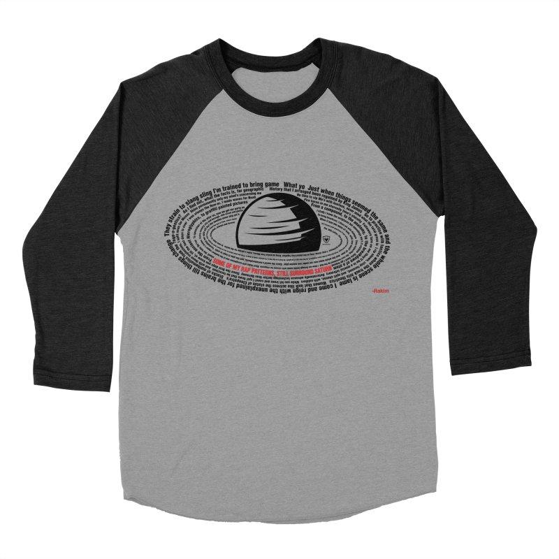 Rakim-Rap Patterns Around Saturn Women's Baseball Triblend Longsleeve T-Shirt by Buckeen