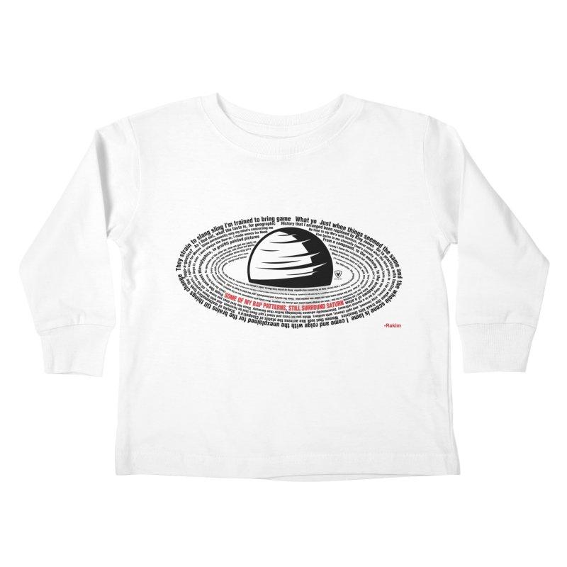 Rakim-Rap Patterns Around Saturn Kids Toddler Longsleeve T-Shirt by Buckeen