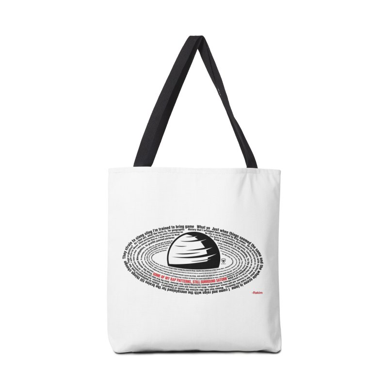Rakim-Rap Patterns Around Saturn Accessories Bag by Buckeen