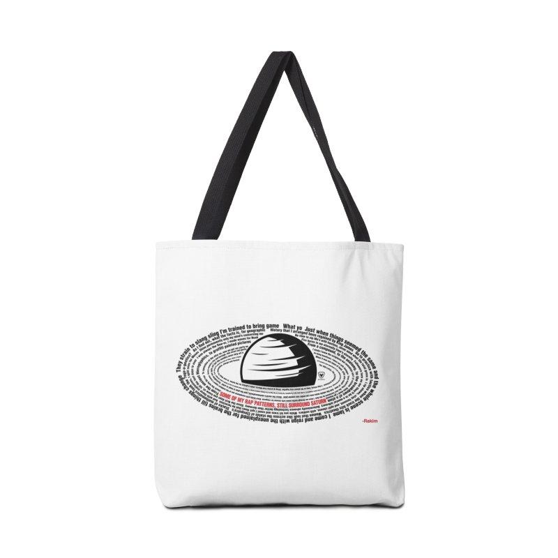 Rakim-Rap Patterns Around Saturn Accessories Bag by Buckeen