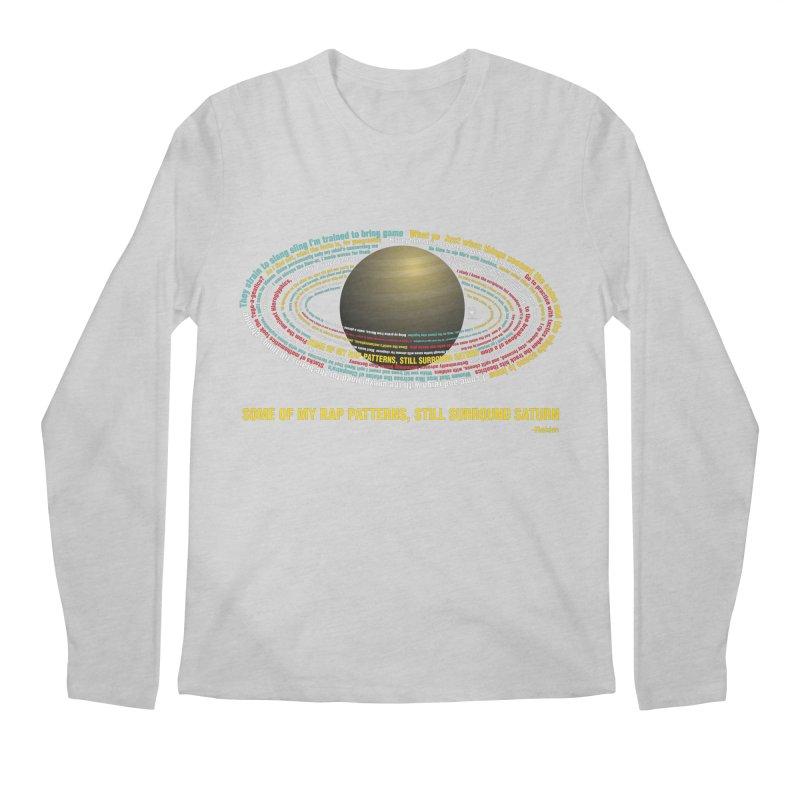 Rakim's Rap Patterns Around Saturn Men's Regular Longsleeve T-Shirt by Buckeen