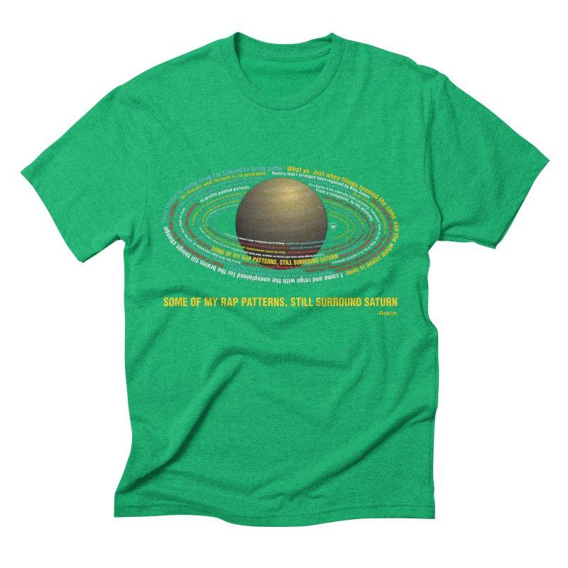 Rakim's Rap Patterns Around Saturn Men's Triblend T-Shirt by Buckeen