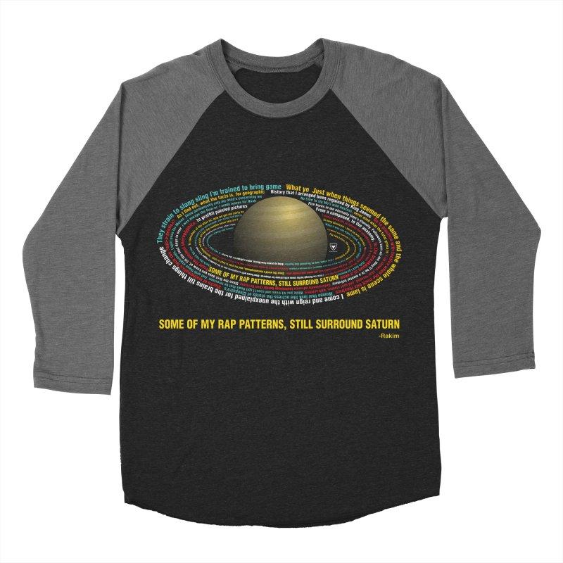 Rakim's Rap Patterns Around Saturn Women's Baseball Triblend Longsleeve T-Shirt by Buckeen