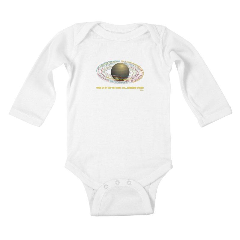 Rakim's Rap Patterns Around Saturn Kids Baby Longsleeve Bodysuit by Buckeen