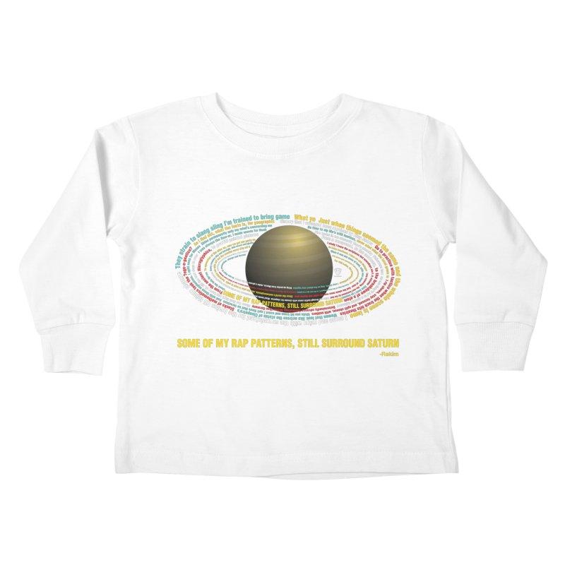Rakim's Rap Patterns Around Saturn Kids Toddler Longsleeve T-Shirt by Buckeen