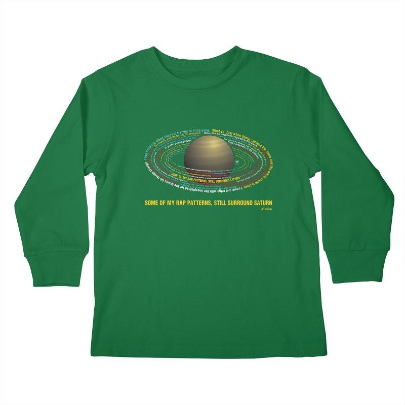 Rakim's Rap Patterns Around Saturn Kids Longsleeve T-Shirt by Buckeen
