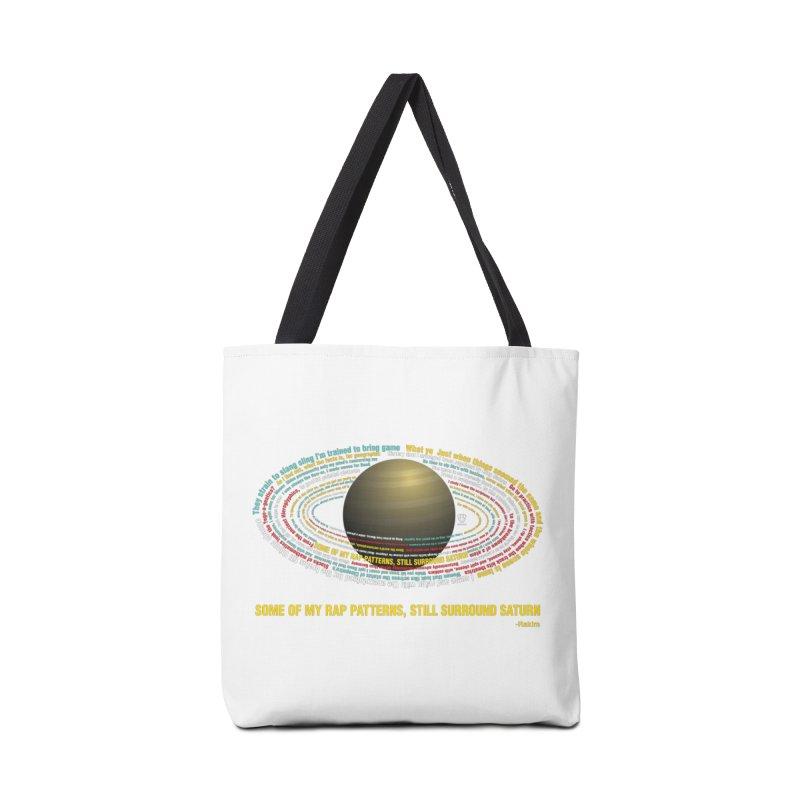 Rakim's Rap Patterns Around Saturn Accessories Bag by Buckeen