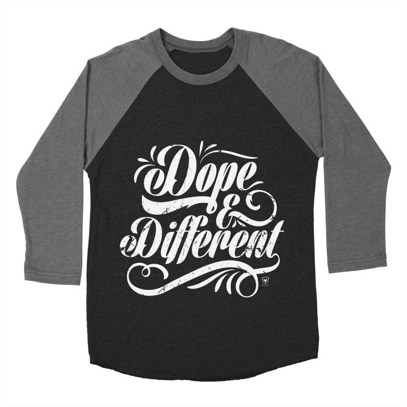 Dope & Different Women's Baseball Triblend Longsleeve T-Shirt by Buckeen