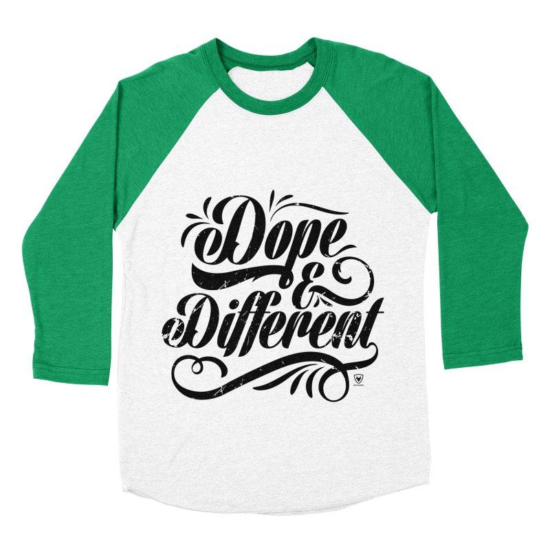 DOPE & DIFFERENT Women's Baseball Triblend T-Shirt by Buckeen