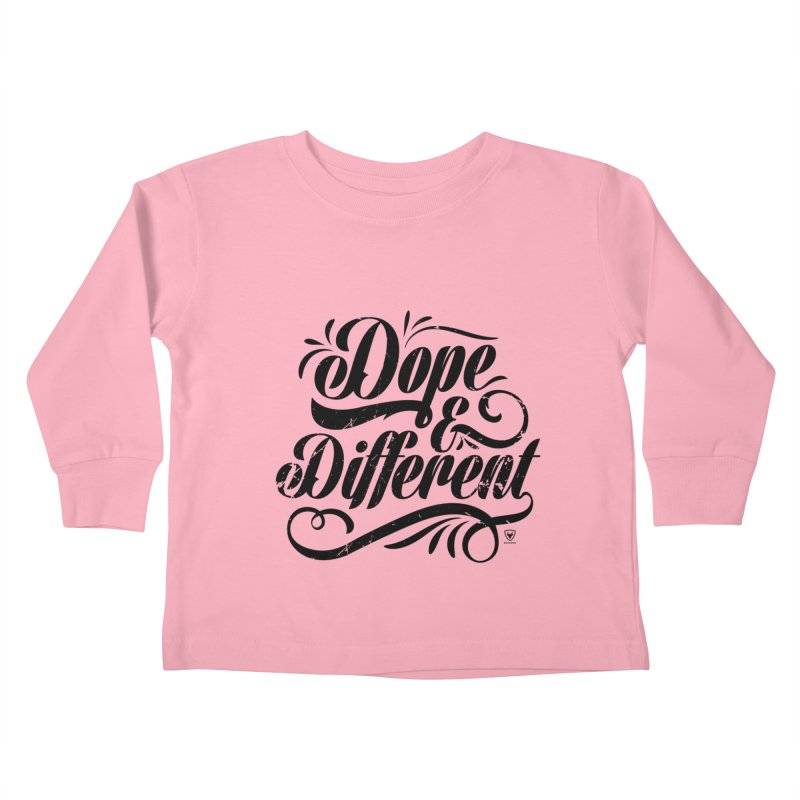 DOPE & DIFFERENT Kids Toddler Longsleeve T-Shirt by Buckeen