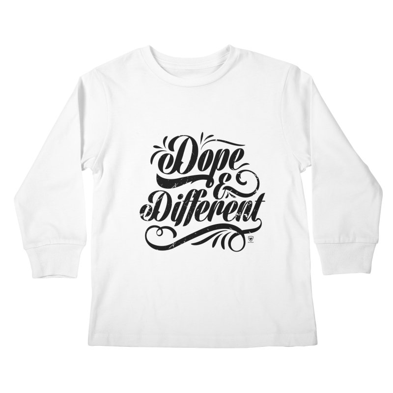 DOPE & DIFFERENT Kids Longsleeve T-Shirt by Buckeen