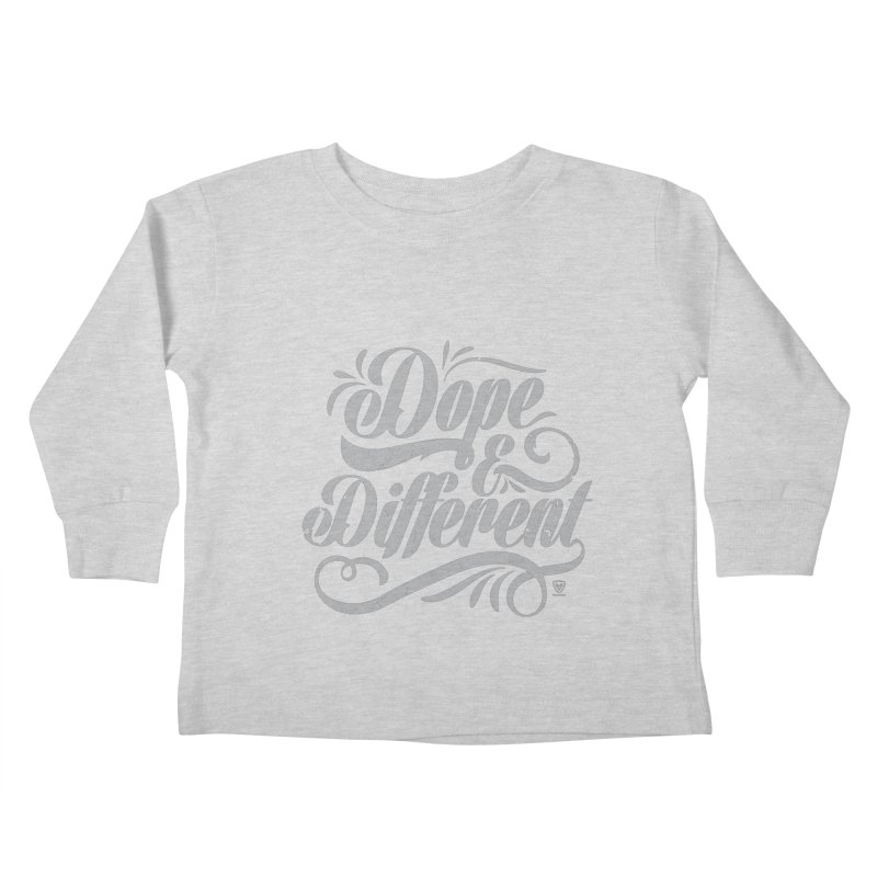 DOPE & DIFFERENT Kids Toddler Longsleeve T-Shirt by Buckeen