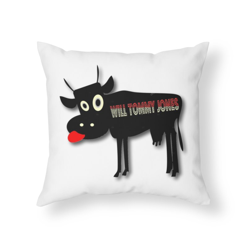 WTJ logo items Home Throw Pillow by Will's Buckin' Stuff