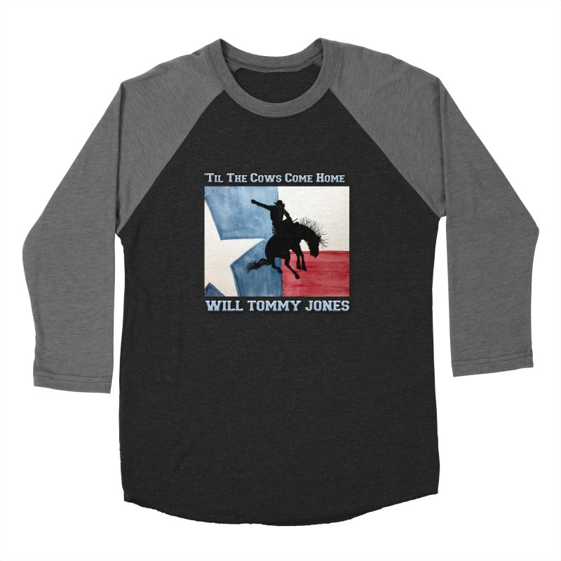 Will's Classic Hit Tee Men's Baseball Triblend Longsleeve T-Shirt by Will's Buckin' Stuff