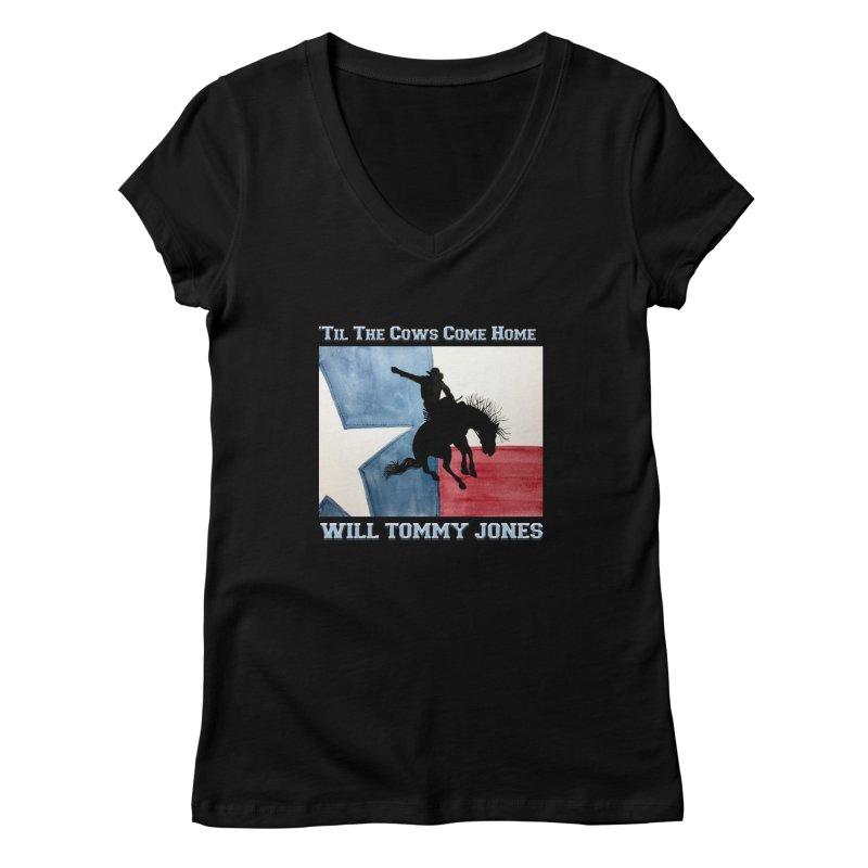 Will's Classic Hit Tee Women's V-Neck by Will's Buckin' Stuff