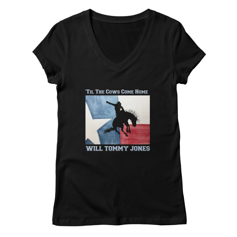 Will's Classic Hit Tee Women's V-Neck by Will's Buckin' Stuff