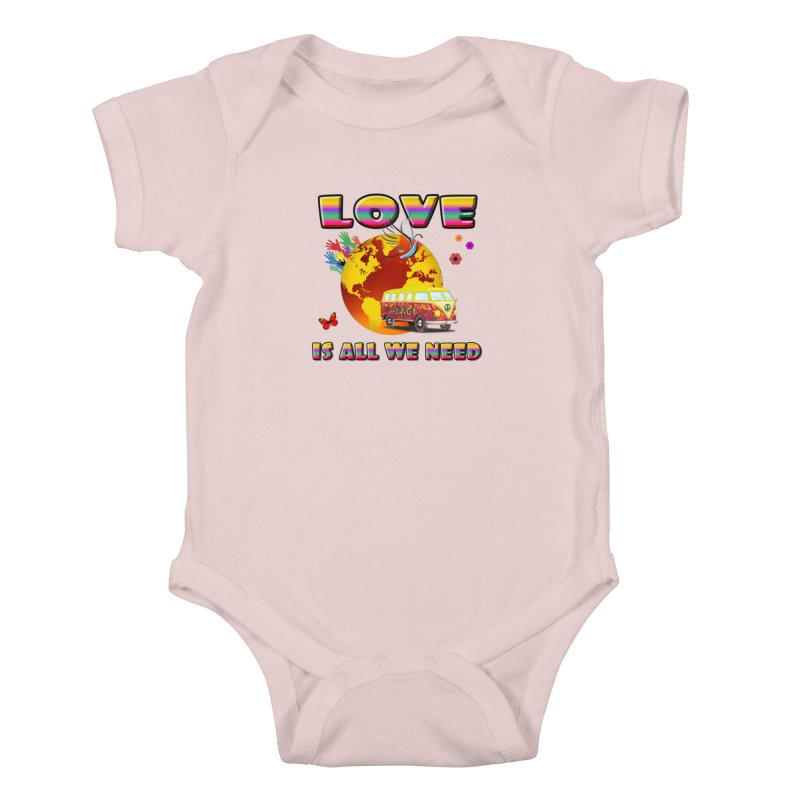 All We Need Kids Baby Bodysuit by Will's Buckin' Stuff