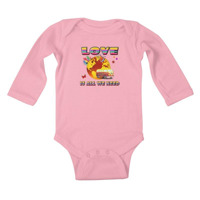 All We Need Kids Baby Longsleeve Bodysuit by Will's Buckin' Stuff