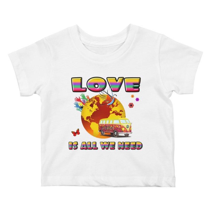 All We Need Kids Baby T-Shirt by Will's Buckin' Stuff