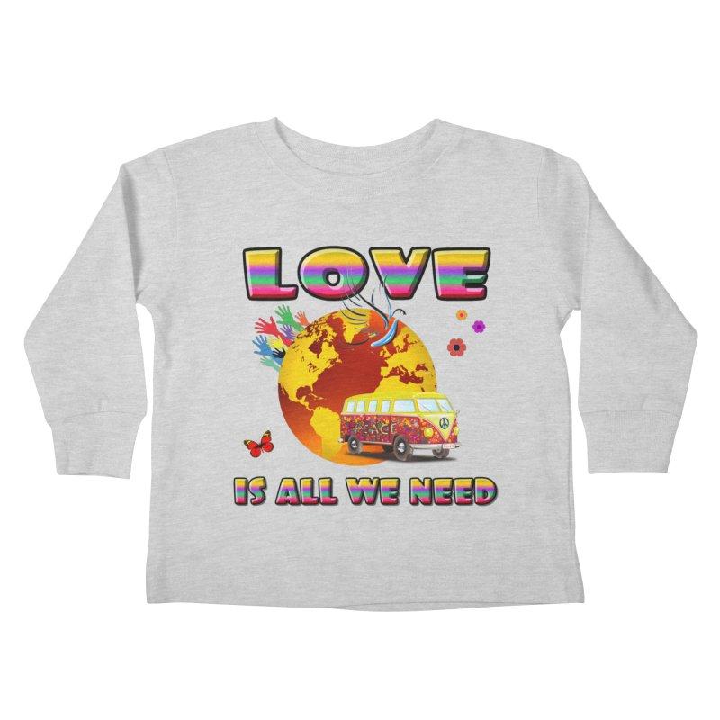 All We Need Kids Toddler Longsleeve T-Shirt by Will's Buckin' Stuff