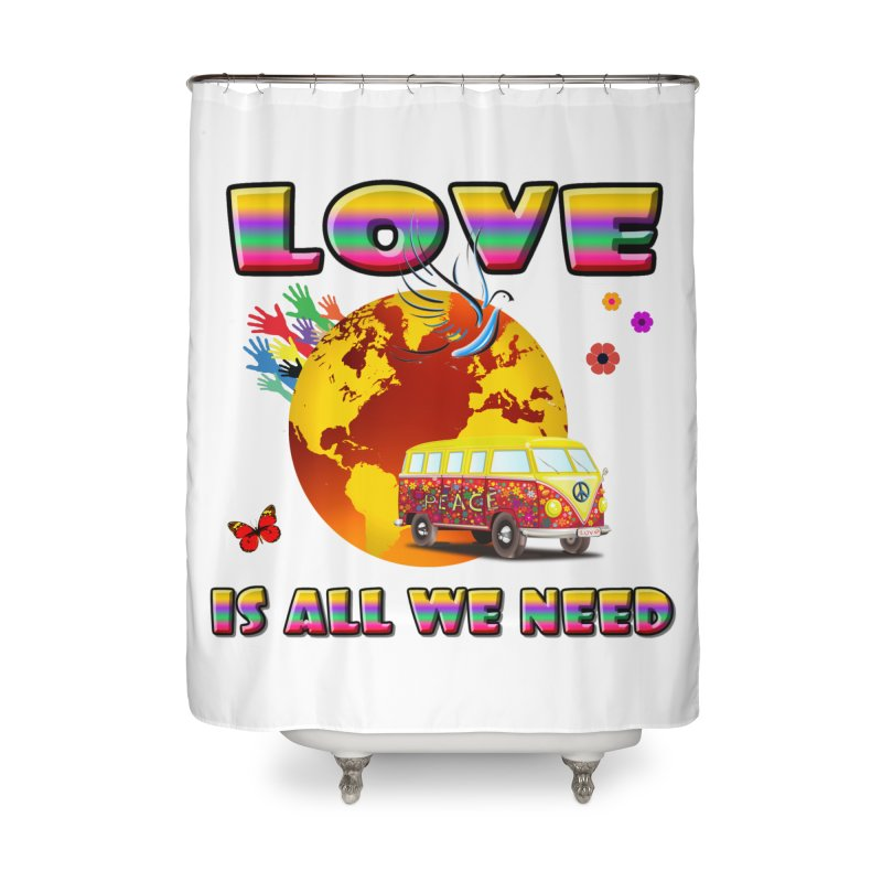 All We Need Home Shower Curtain by Will's Buckin' Stuff