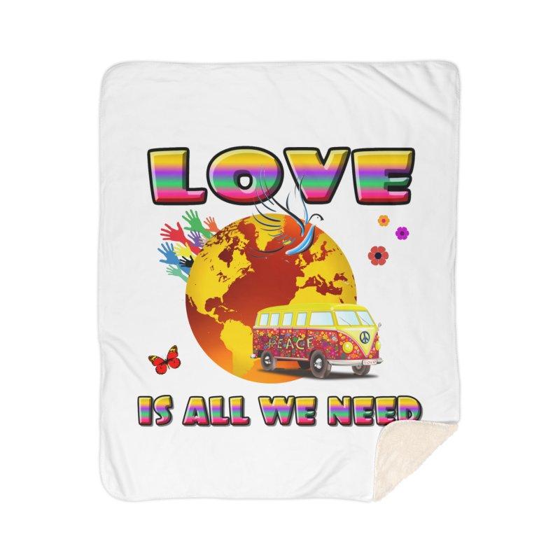 All We Need Home Sherpa Blanket Blanket by Will's Buckin' Stuff
