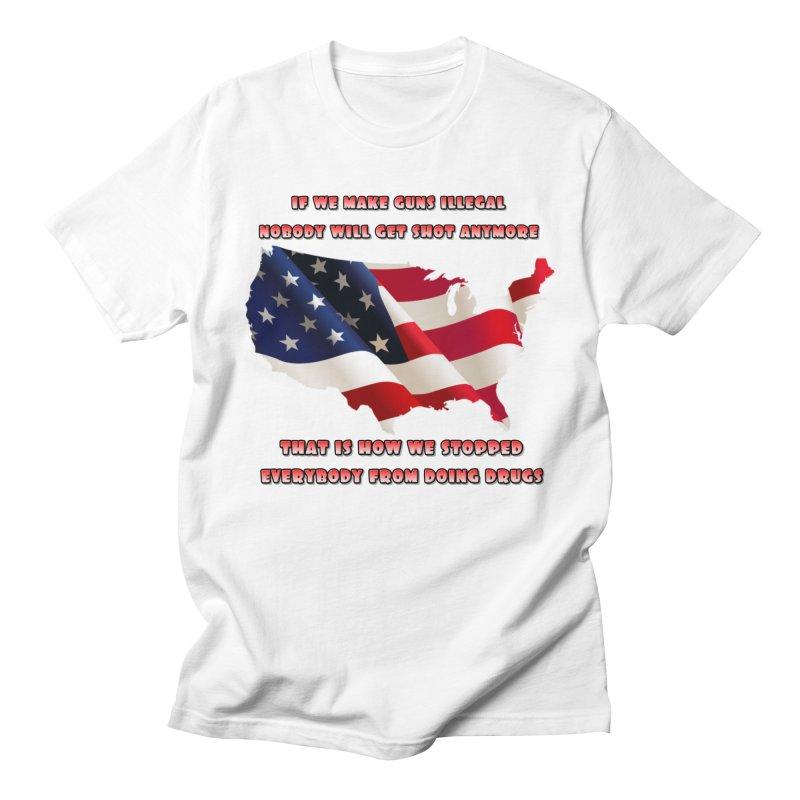 Guns and Drugs Men's T-Shirt by Will's Buckin' Stuff