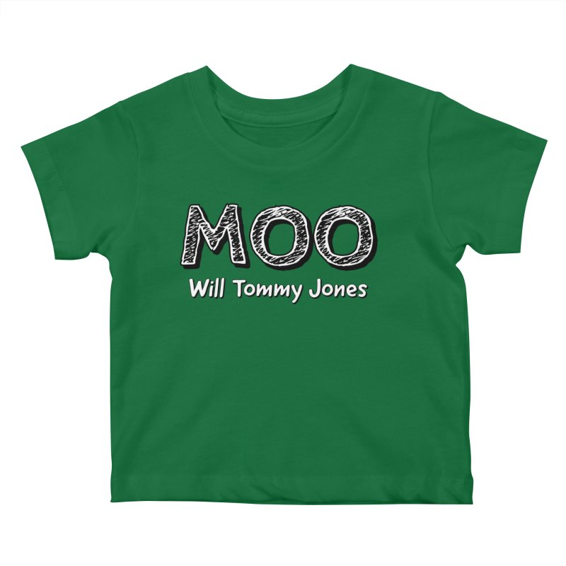 MOO wtj Kids Baby T-Shirt by Will's Buckin' Stuff