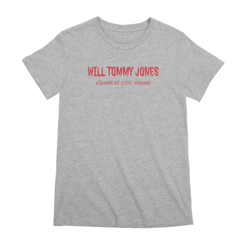 classical cow Women's Premium T-Shirt by Will's Buckin' Stuff
