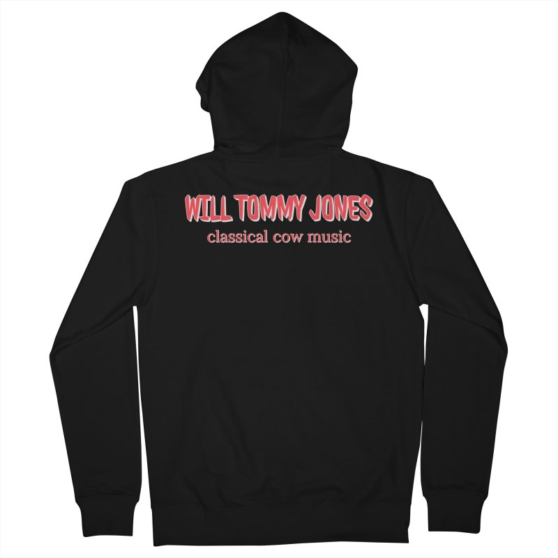 classical cow Men's French Terry Zip-Up Hoody by Will's Buckin' Stuff