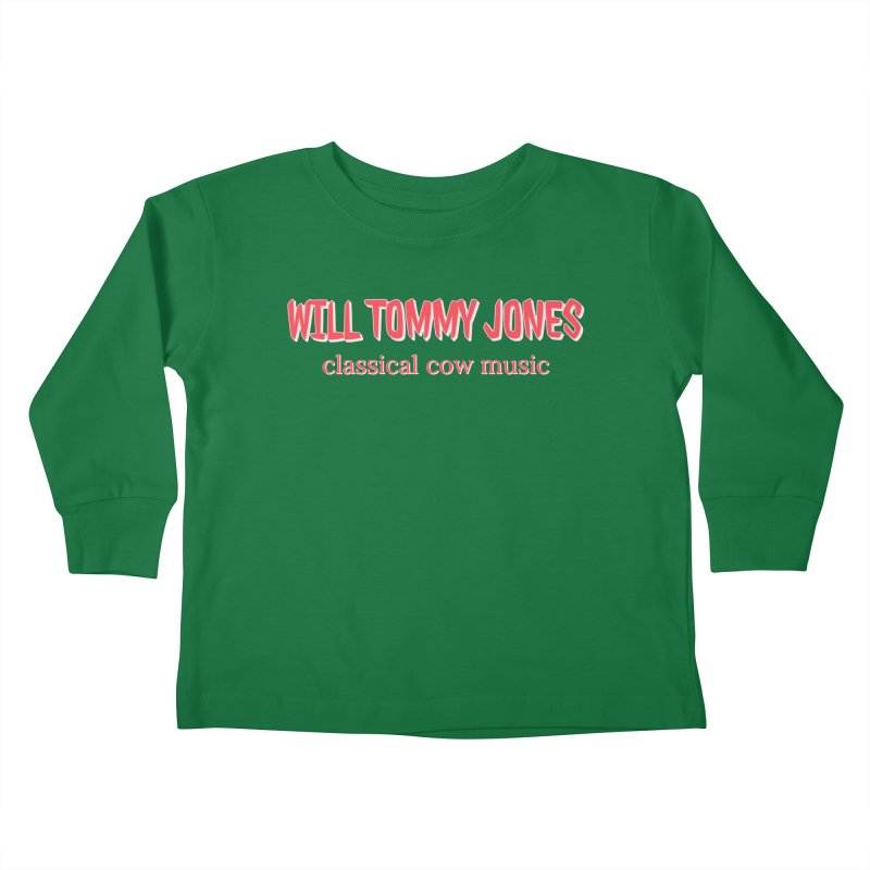 classical cow Kids Toddler Longsleeve T-Shirt by Will's Buckin' Stuff