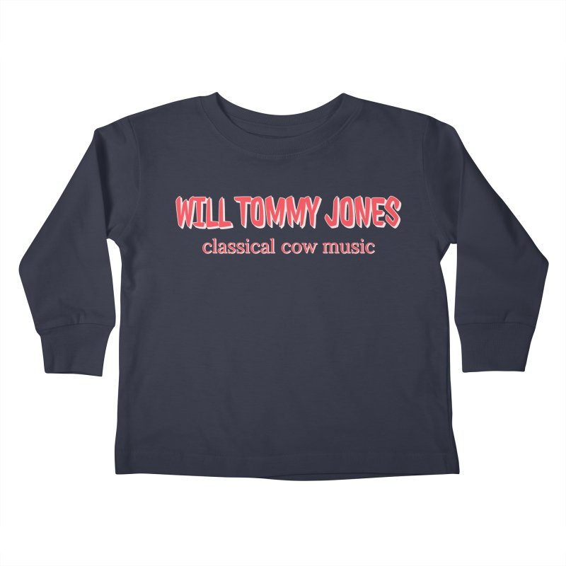 classical cow Kids Toddler Longsleeve T-Shirt by Will's Buckin' Stuff