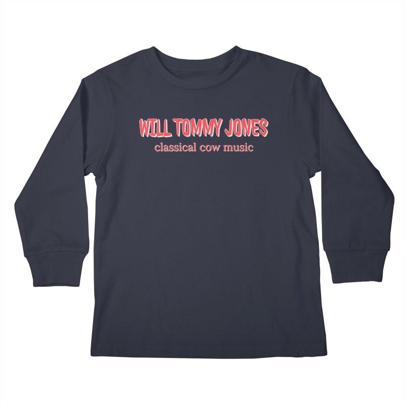 classical cow Kids Longsleeve T-Shirt by Will's Buckin' Stuff