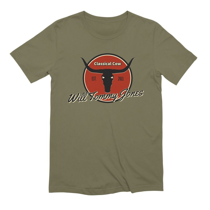 WTJ Cow Design II Men's T-Shirt by Will's Buckin' Stuff