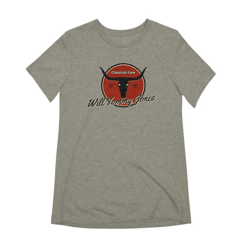 WTJ Cow Design II Women's Extra Soft T-Shirt by Will's Buckin' Stuff
