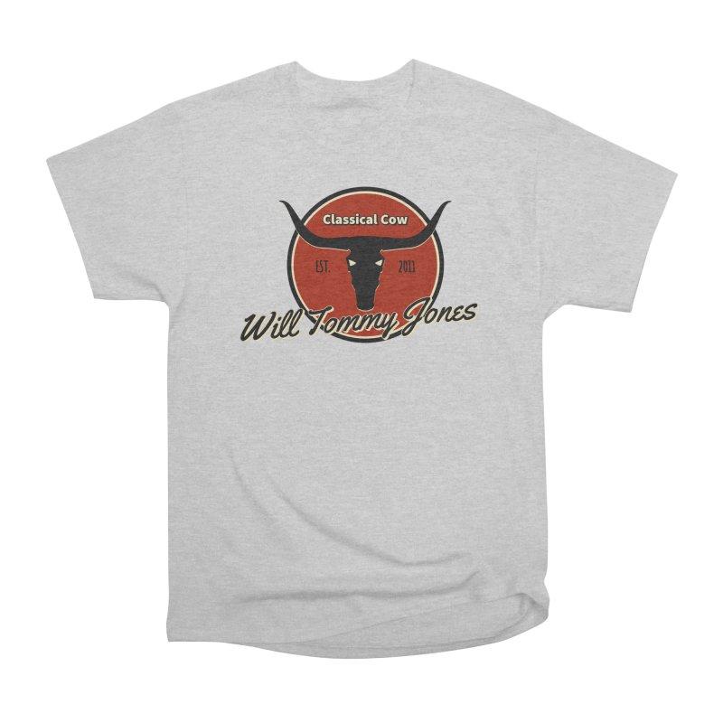 WTJ Cow Design II Men's T-Shirt by Will's Buckin' Stuff