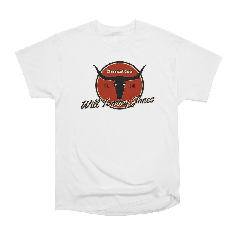 WTJ Cow Design II Men's Heavyweight T-Shirt by Will's Buckin' Stuff