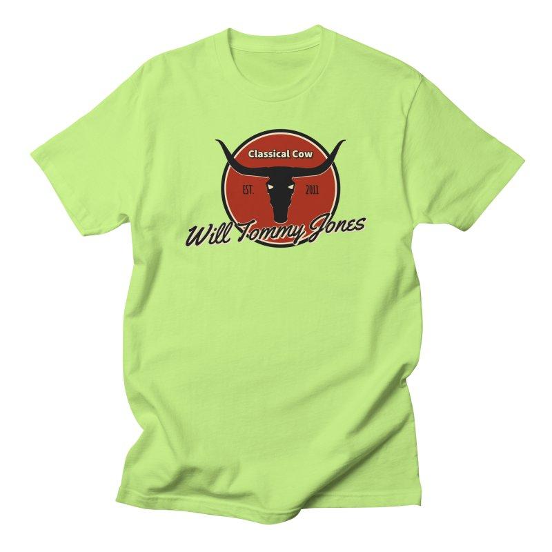 WTJ Cow Design II Men's Regular T-Shirt by Will's Buckin' Stuff