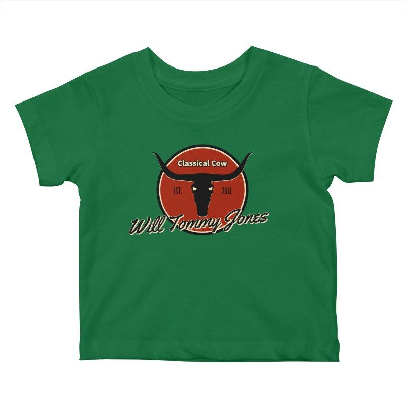 WTJ Cow Design II Kids Baby T-Shirt by Will's Buckin' Stuff