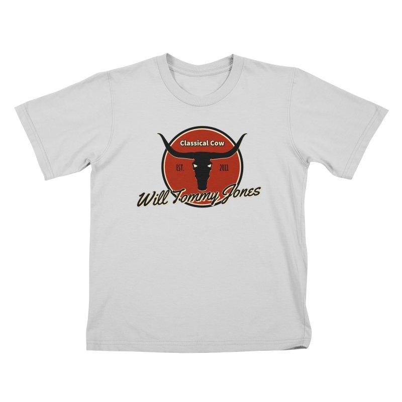 WTJ Cow Design II Kids T-Shirt by Will's Buckin' Stuff