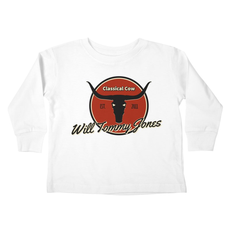 WTJ Cow Design II Kids Toddler Longsleeve T-Shirt by Will's Buckin' Stuff