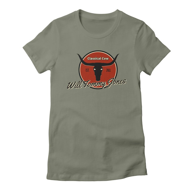 WTJ Cow Design II Women's T-Shirt by Will's Buckin' Stuff