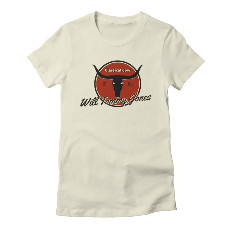 WTJ Cow Design II Women's T-Shirt by Will's Buckin' Stuff