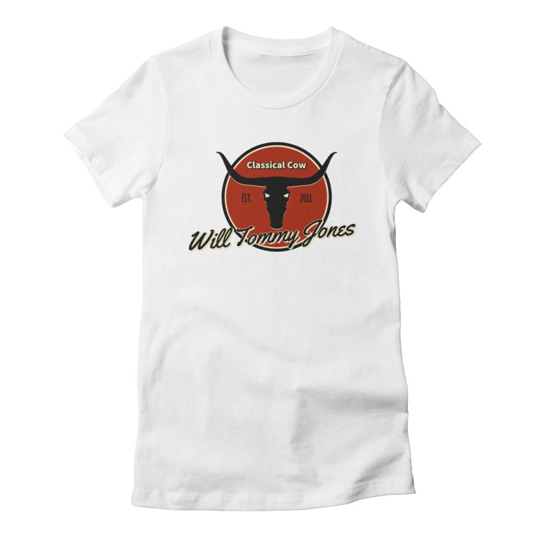 WTJ Cow Design II Women's Fitted T-Shirt by Will's Buckin' Stuff