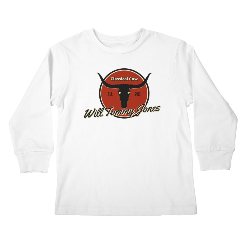 WTJ Cow Design II Kids Longsleeve T-Shirt by Will's Buckin' Stuff