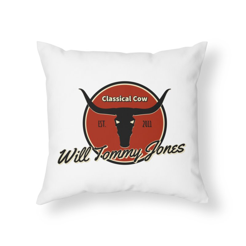 WTJ Cow Design II Home Throw Pillow by Will's Buckin' Stuff