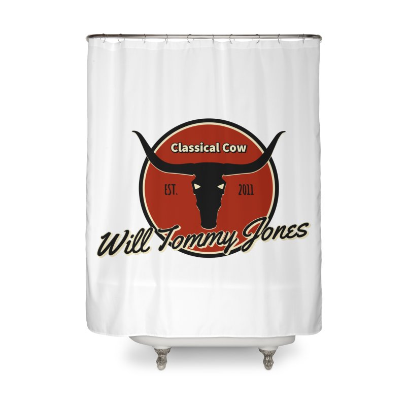 WTJ Cow Design II Home Shower Curtain by Will's Buckin' Stuff